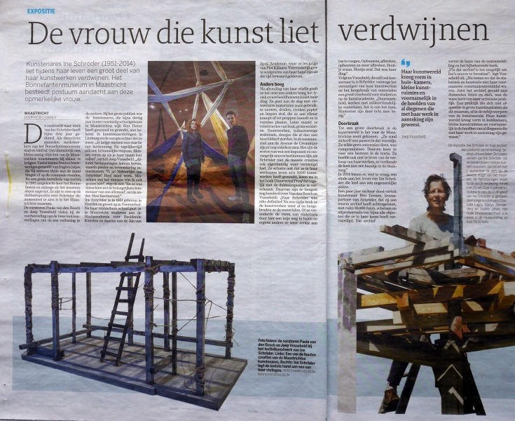 Artikel in De Limburger, 5 februari 2019